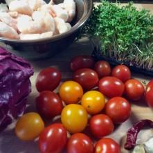 Selbstgemachte Nudeln,Costa Prawns,Salat, - 27.10.15 (1aa) (3)