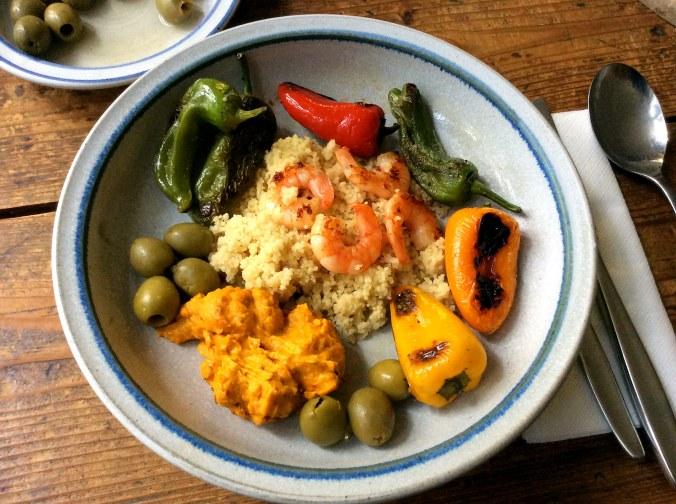 Pimientos,Kürbiscreme,Couscous,Pacific prawns -19.11.15   (24)