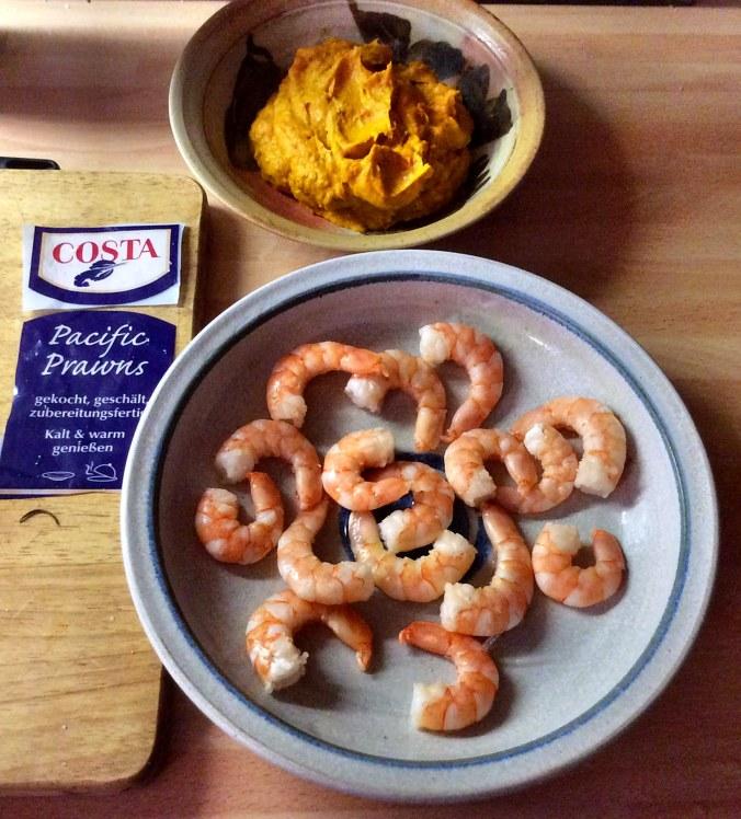 Pimientos,Kürbiscreme,Couscous,Pacific prawns -19.11.15   (5)