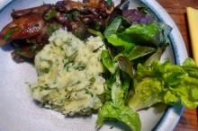 30.1.16 - Pilze,Kartoffelstampf,Salat,vegetarisch (13)
