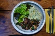 30.1.16 - Pilze,Kartoffelstampf,Salat,vegetarisch (14)