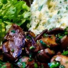 30.1.16 - Pilze,Kartoffelstampf,Salat,vegetarisch (16)