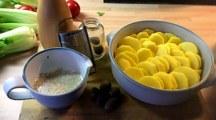 8.1.16 - Kartoffelgratin,Pak Choi,Endiviensalat,vegetarisch (6)