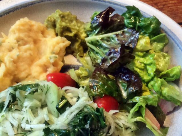 25.2.16 - Wurzelstamp,Salate,Guacamole,vegetarisch (9)