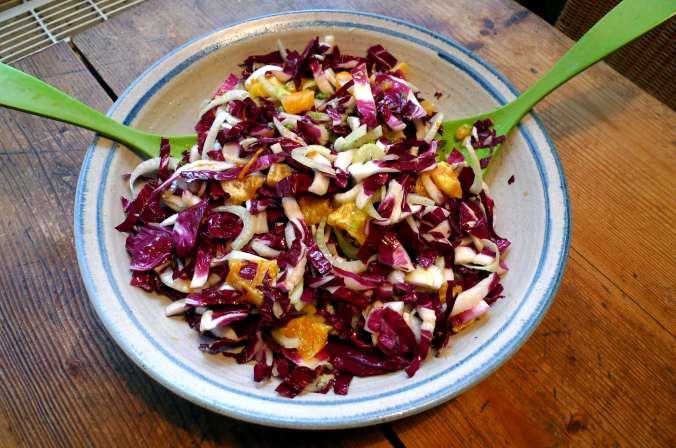 7.2.16 - Kichererbsenpfannkuchen,Salat,Gewürzbirne,vegetarisch (2)