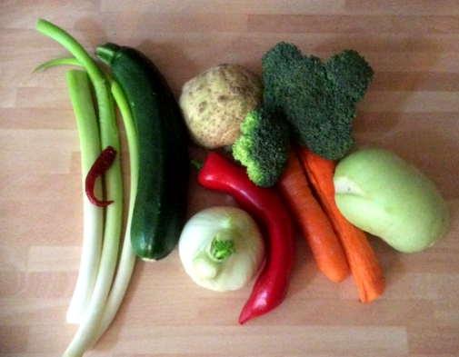 Pfannengemüse,Reisnudeln,vegan (3)