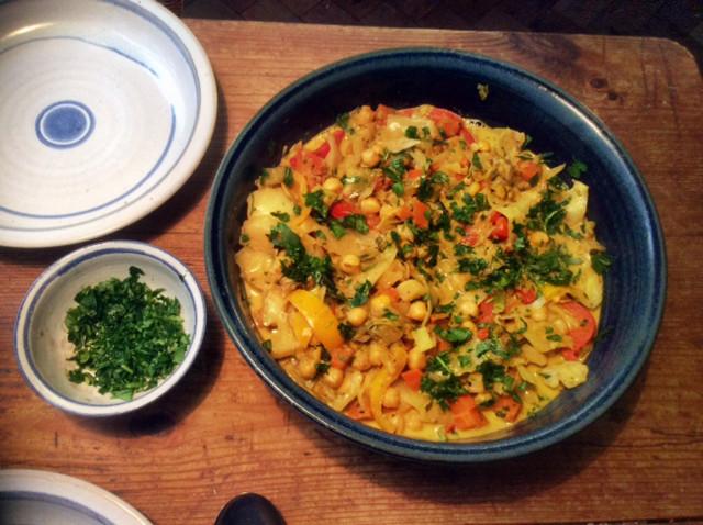12.3.16 - Kichererbsen-Gemüse Eintopf,Indische Art,vegan (1)