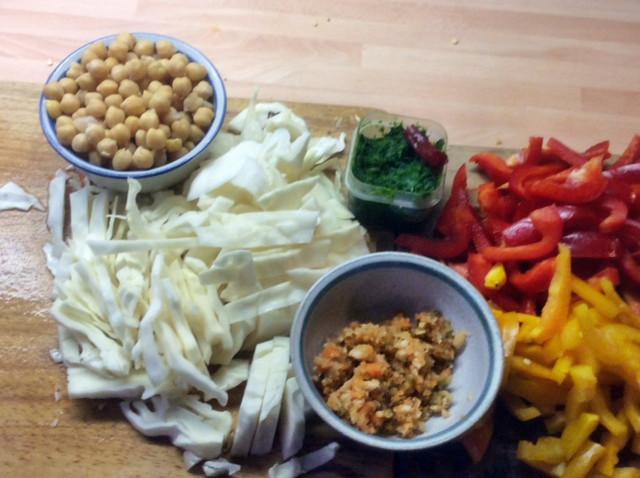 12.3.16 - Kichererbsen-Gemüse Eintopf,Indische Art,vegan (6)