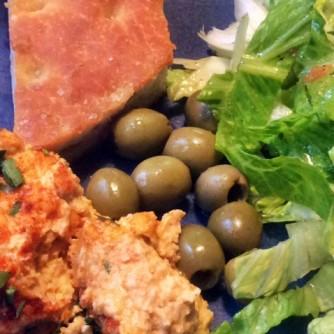 13.3.16 - Focaccia,Hummus,Salat,Obstsalat,vegan (19)