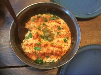 13.3.16 - Focaccia,Hummus,Salat,Obstsalat,vegan (6)