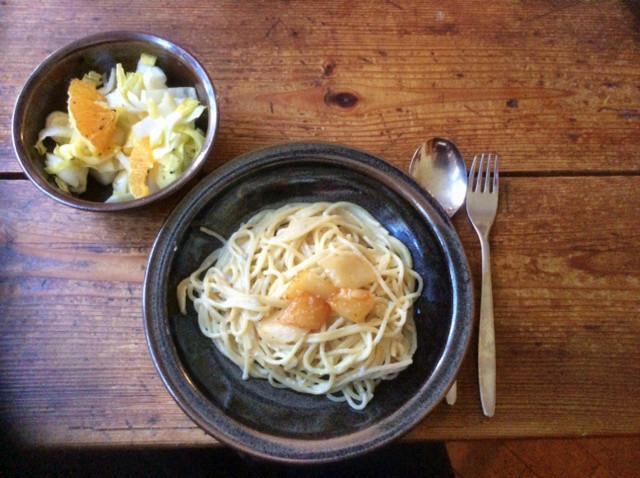 17.3.16 - Spaghetti mit Gorgonzolasauce,Chiccore Salat (1)