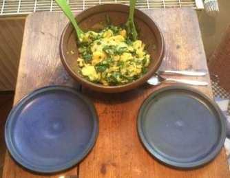 20.3.16 - Kartoffelsalat,pchiertes Ei,Quitten Dessert,vegetarisch (10)