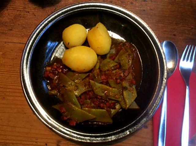 22.3.16 - Bohnen,Kartoffeln,Quarkspeise (8)