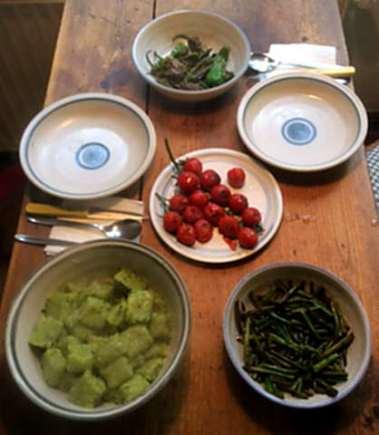 23.3.16 - Gnocchis,grüner Spargel,Pimientos,Tomaten (11)