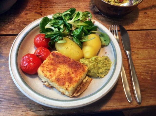 3.3.16 - Gebratener Feta,Feldsalat,Guacamole,vegetarisch (1)