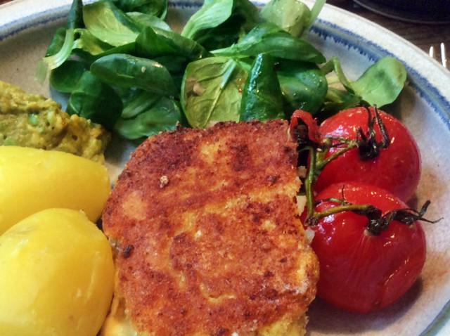 3.3.16 - Gebratener Feta,Feldsalat,Guacamole,vegetarisch (10)
