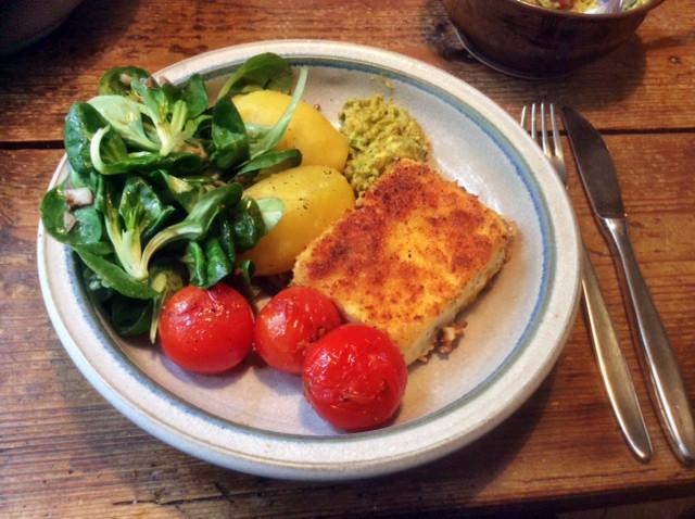 3.3.16 - Gebratener Feta,Feldsalat,Guacamole,vegetarisch (11)