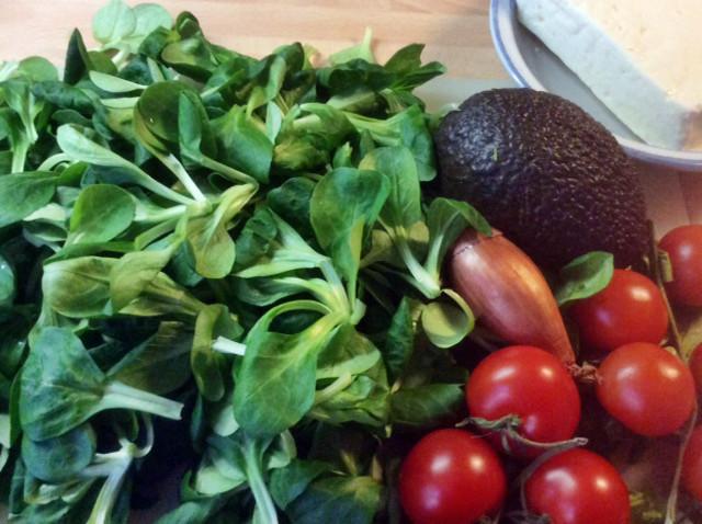 3.3.16 - Gebratener Feta,Feldsalat,Guacamole,vegetarisch (3)