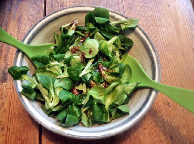 3.3.16 - Gebratener Feta,Feldsalat,Guacamole,vegetarisch (4)