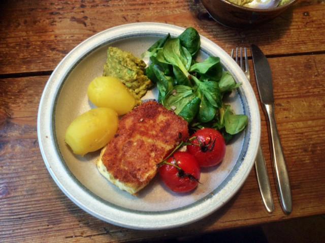 3.3.16 - Gebratener Feta,Feldsalat,Guacamole,vegetarisch (8)