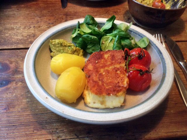 3.3.16 - Gebratener Feta,Feldsalat,Guacamole,vegetarisch (9)