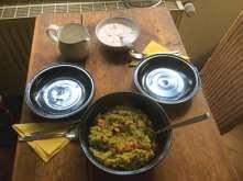 15.4.16 - Bärlauchrisotto,Meeresfrüchte,Joghurtspeise (10)