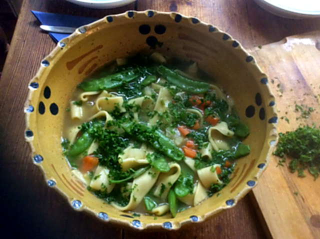 18.4.16  -  Gemüsesuppe ,selbstgemachte Nudeln (1a)