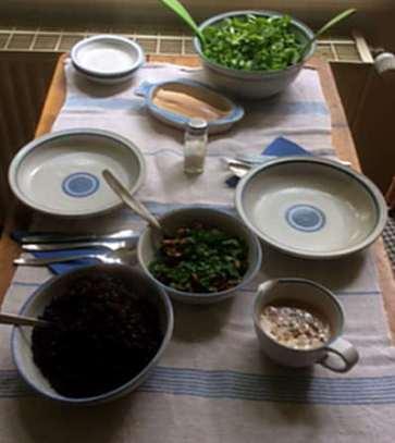 27.4.16 - Schwarzer Reis,Sauce,Feldsalat,Dessert (12)