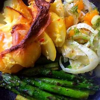29.4.16 - Kartoffelgratin,grüner Spargel,Fenchelsalat (23)
