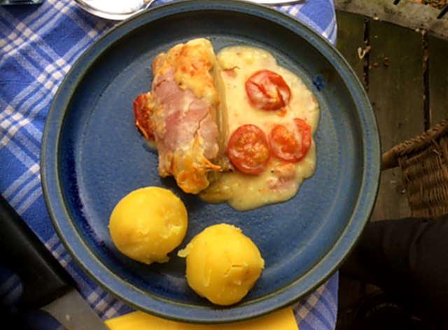 4.4.16 - Überbackener Chicoree,Kartoffeln,Quarkspeise (2)