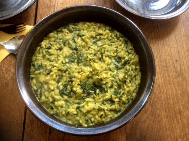 6.4.16 - Spinat Risotto,Salat,vegetarisch (2)