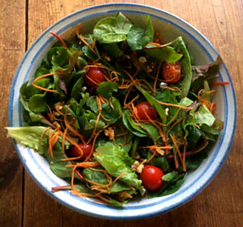 6.4.16 - Spinat Risotto,Salat,vegetarisch (6)