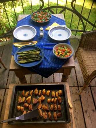 11.6.16 - Grüner Spargel,Ofenkartoffeln,Tomaten,Avocado,vegetarisch (10)
