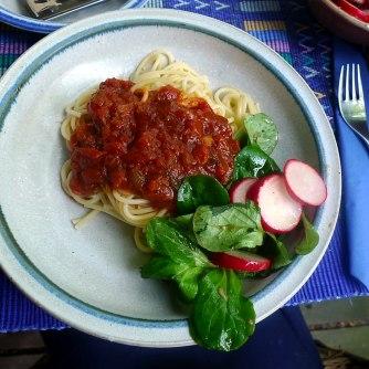 23.5.16 - Kamut-Spaghetti,Tomatensoße,Salate,vegan (19)