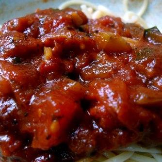 23.5.16 - Kamut-Spaghetti,Tomatensoße,Salate,vegan (20)
