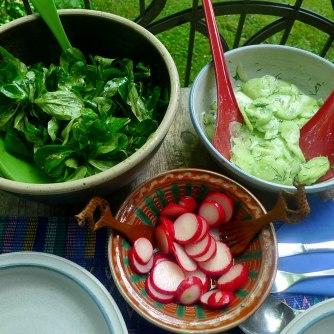 23.5.16 - Kamut-Spaghetti,Tomatensoße,Salate,vegan (8)