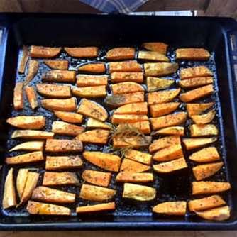 6.5.16 - Süßkartoffel,Fenchelsalat,Feldsalat,Guacamole,Joghurtdip (10)