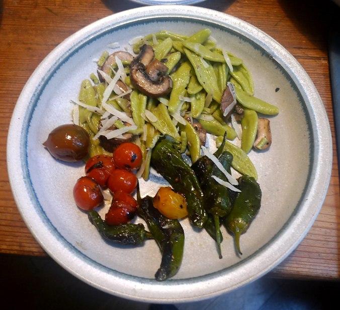 18.6.16 - Grüne Nudeln,Gemüse (1)