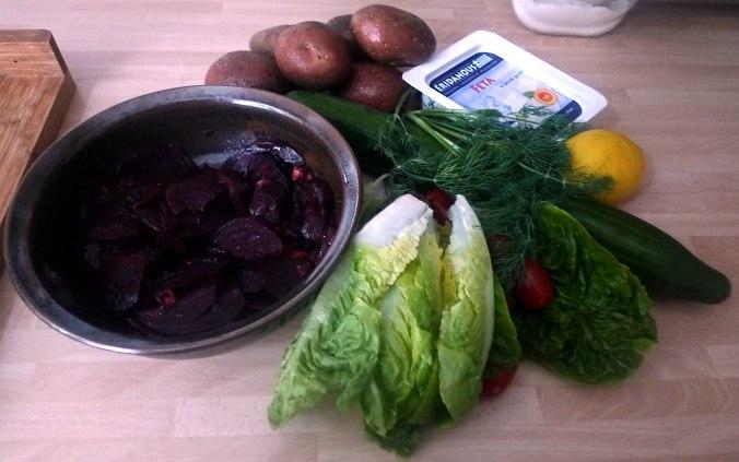 20.6.16 - Salate,Feta,Kartoffeln,Dessert (2)