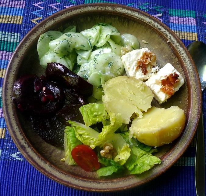 20.6.16 - Salate,Feta,Kartoffeln,Dessert (9)