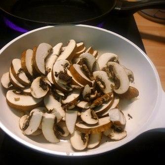 24.6.16 - Quinotto,Champignon,gebratener Fenchel,Pflücksalat,Dessert (11)