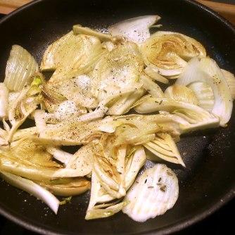 24.6.16 - Quinotto,Champignon,gebratener Fenchel,Pflücksalat,Dessert (14)