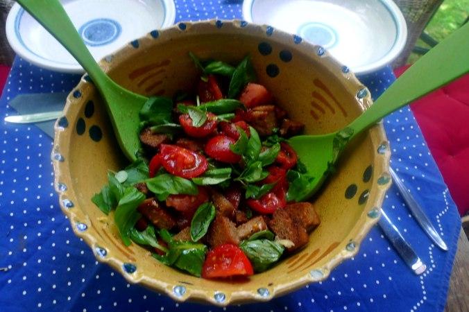 27.6.16 - Panzanella,Brotsalat,Tomatenbrotsalat,vegan (1a)