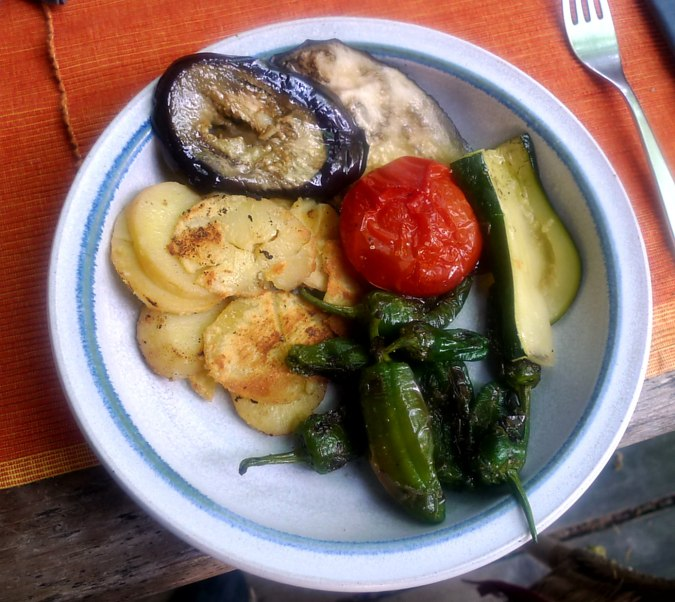 30.6.16 - Ofengemüse,Pimientos,Bratkartoffeln (1)