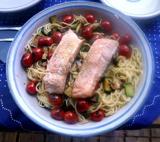 Lachs,Nudeln,Zucchini,Dessert (5) - Kopie