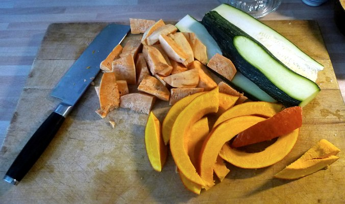 Ofengemüse,Basilikum Dip,vegetarisch (2)
