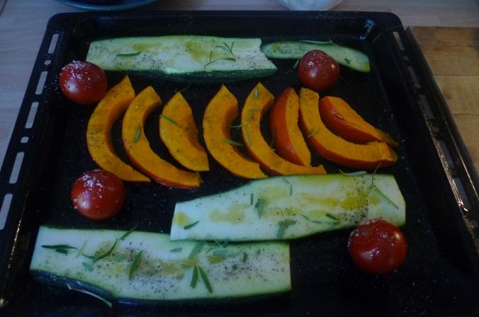 Ofengemüse,Basilikum Dip,vegetarisch (4)