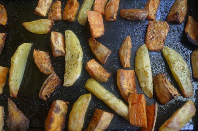 Ofengemüse,Basilikum Dip,vegetarisch (6)