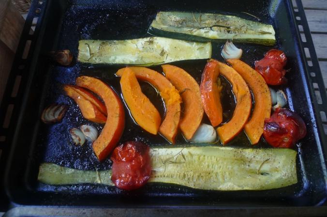 Ofengemüse,Basilikum Dip,vegetarisch (7)