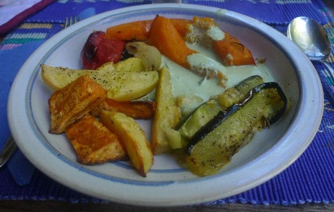 Ofengemüse,Basilikum Dip,vegetarisch (8)